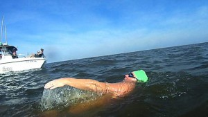 Matt Moseley Swimming Lake Pontchartrain